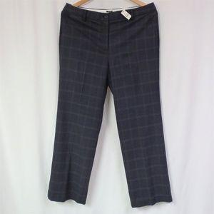 NWT Talbots Windsor Dress Pants Sz 14 Gray Plaid